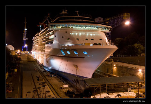 Carnival Pride in dry dock